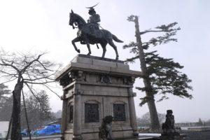 仙台藩幕末史跡青葉城伊達政宗騎馬像